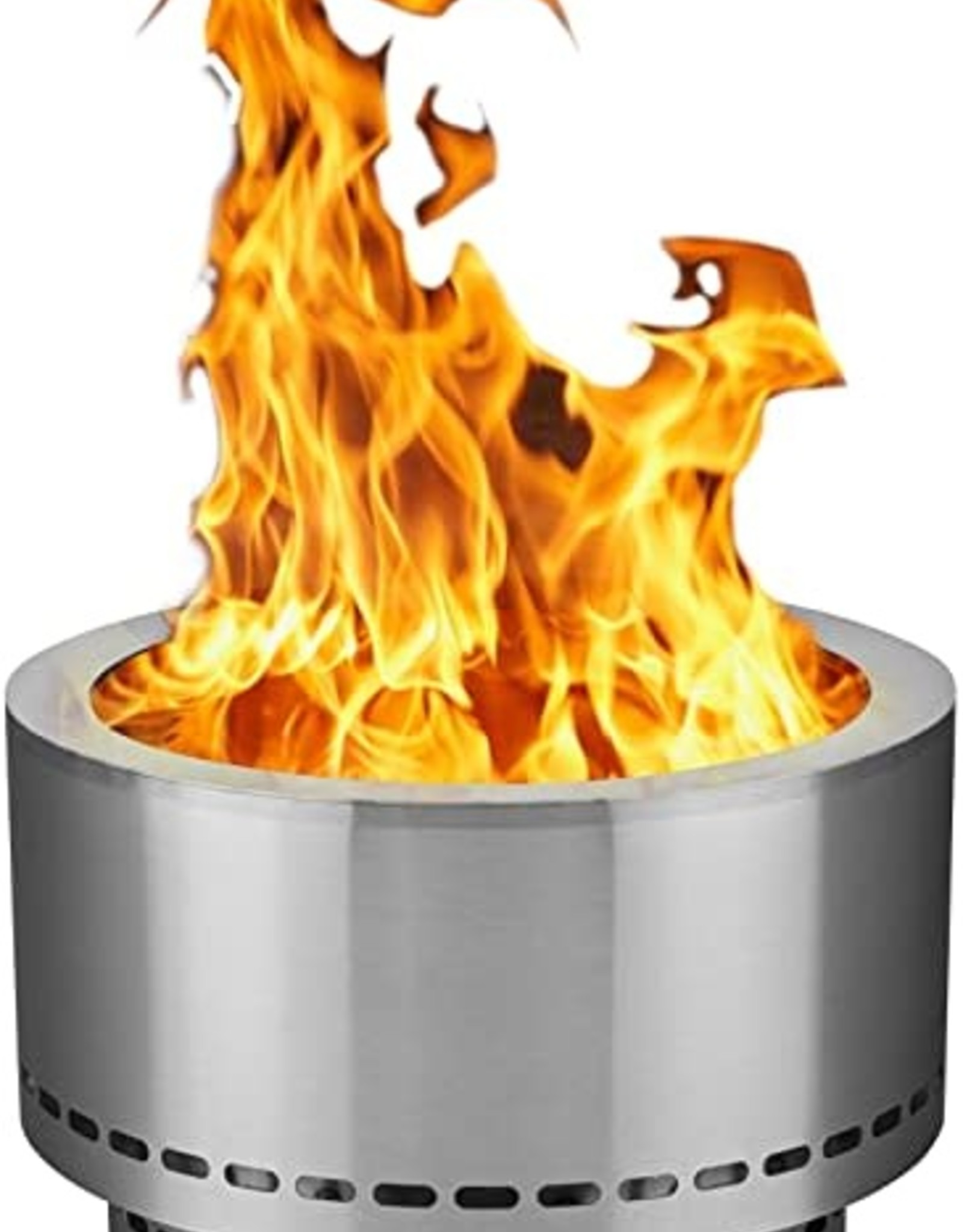 "Flame Genie Flame Genie Inferno 19"" Wood Pellet Fire Pit FG-19-SS"