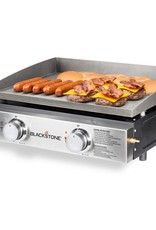 """Blackstone Blackstone 22"""" Tabletop Griddle Stainless Steel Front Plate with Cover - 1840"""