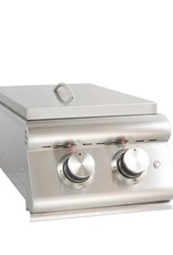 Blaze Outdoor Products Blaze LTE Built-In Natural Gas Stainless Steel Double Side Burner With Lid - BLZ-SB2LTE-LP