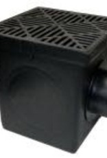 NDS Drainage NDS 9 in. x 9 in. Plastic Square Drainage Catch Basin in Black, 2 Opening Kit