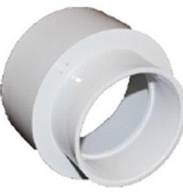 "NDS Drainage PVC 6""x4"" Reducing Coupling HubxHub"
