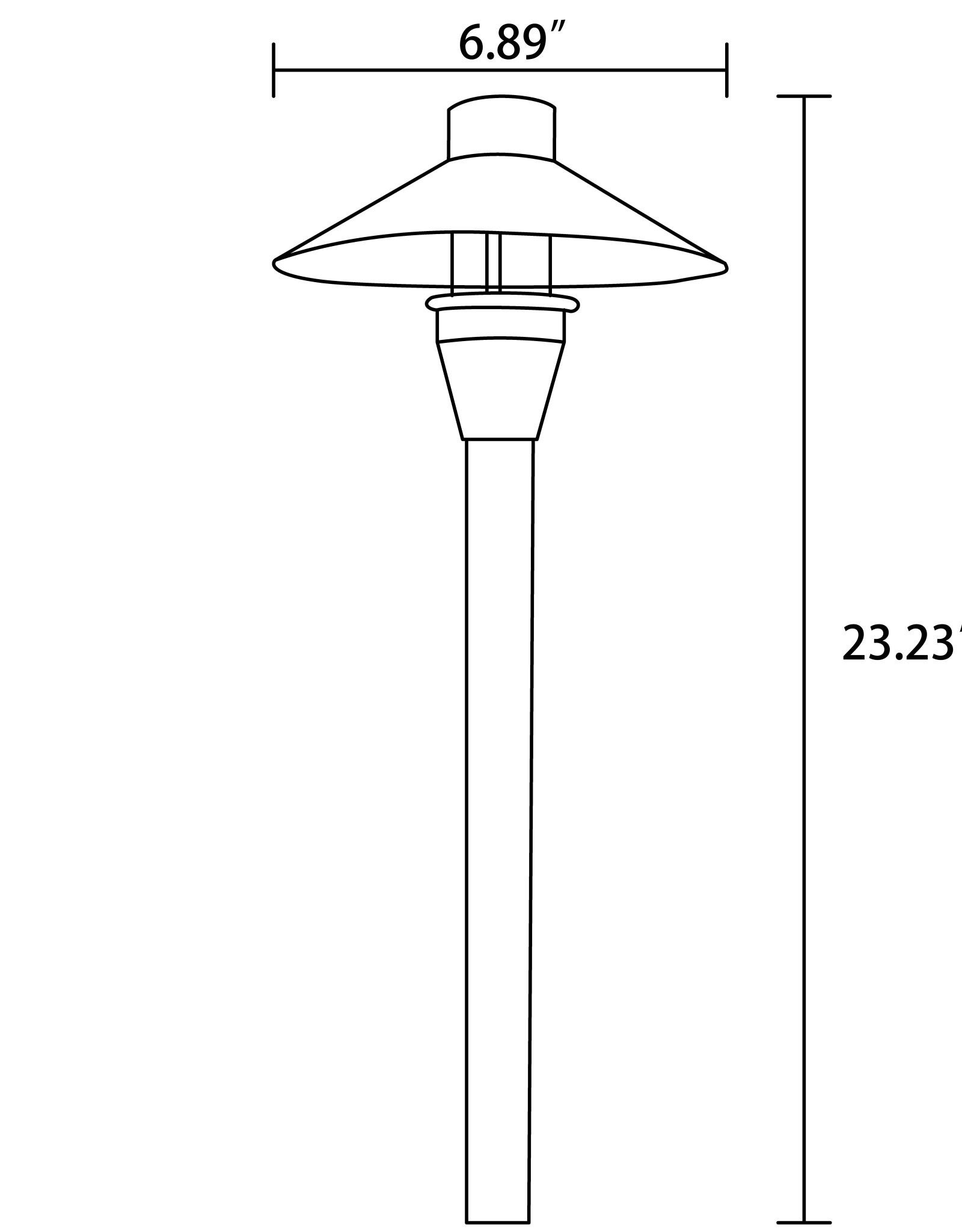 Radar Lighting Cast Brass Area Pathway Light (RPL-8903-BBR G4)
