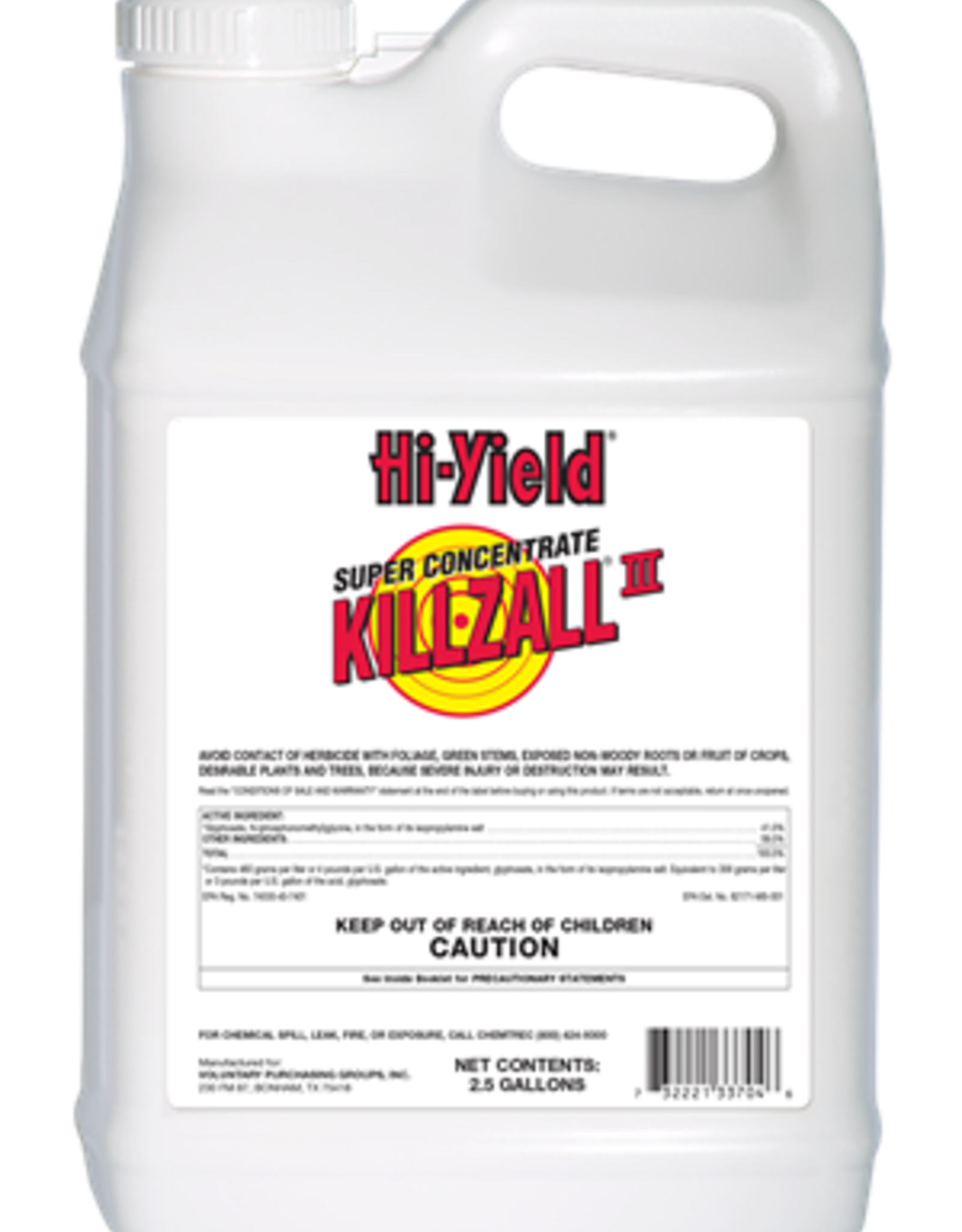 Hi-Yield Hi-Yield Super Concentrate Killzall 2 - 2.5 Gal