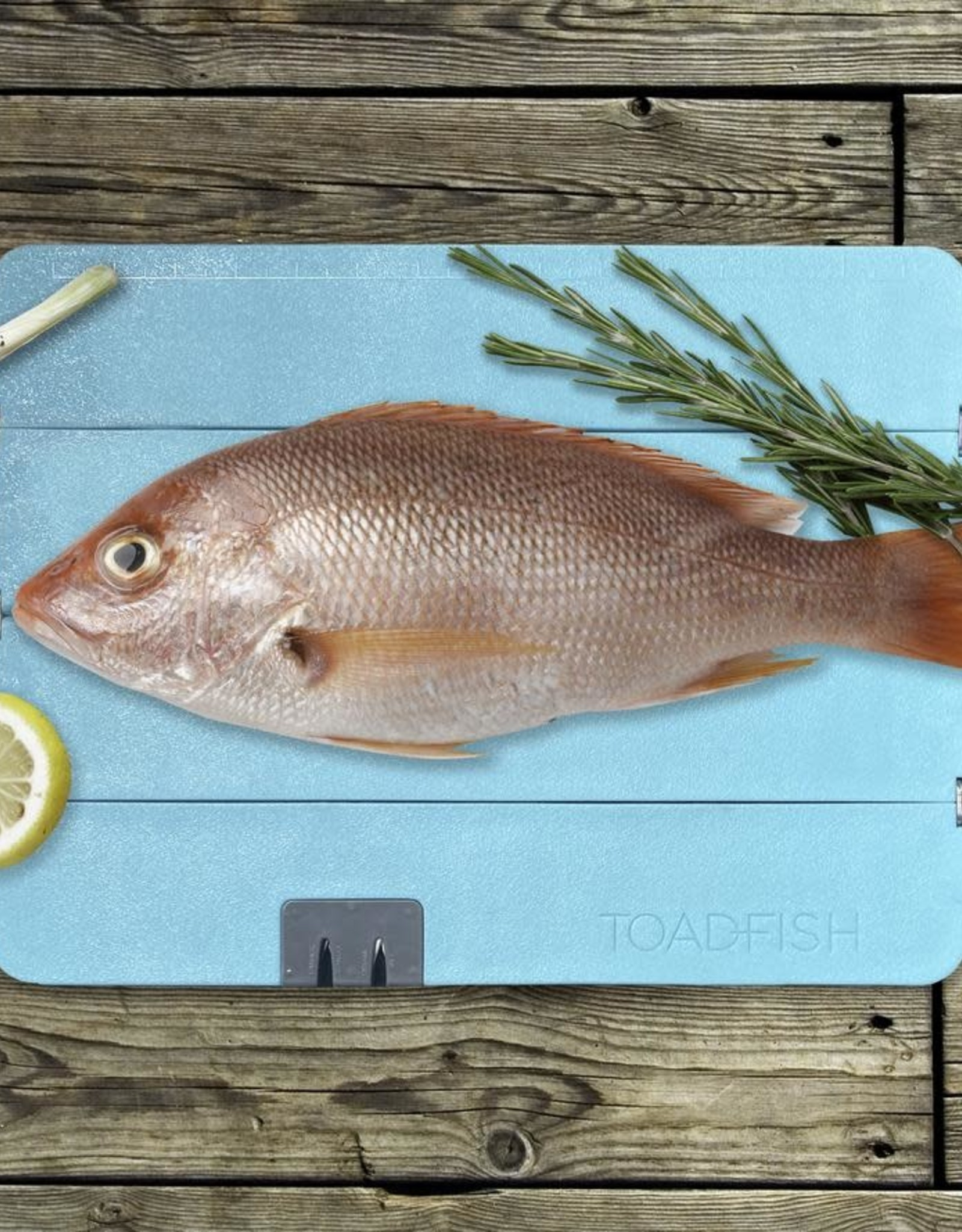 Toadfish Toadfish Folding Cutting Board with Built In Knife Sharpener - Teal