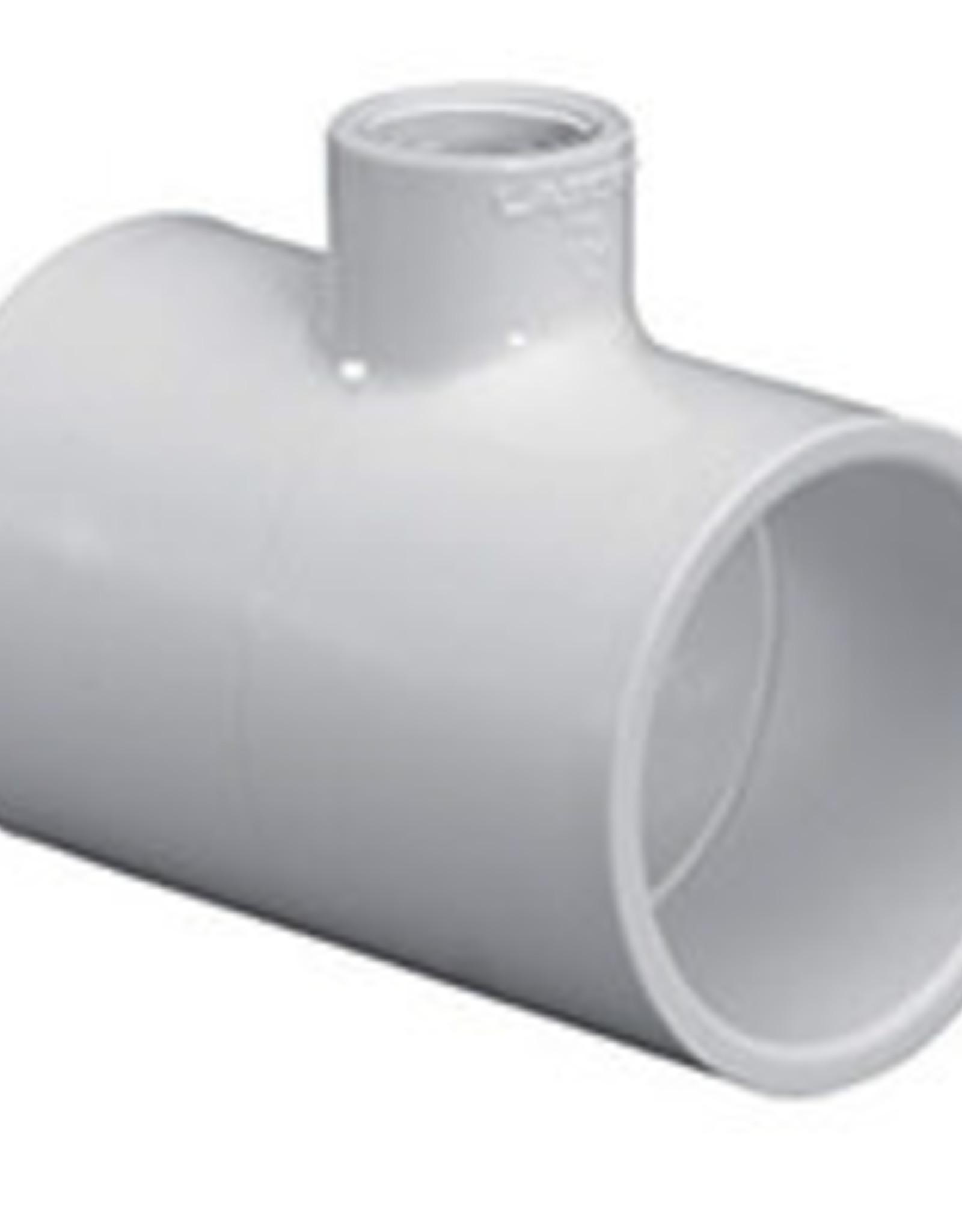 "Lasco Fittings PVC 1"" Reducing Tee Slip x Slip x 1/2"" Slip"