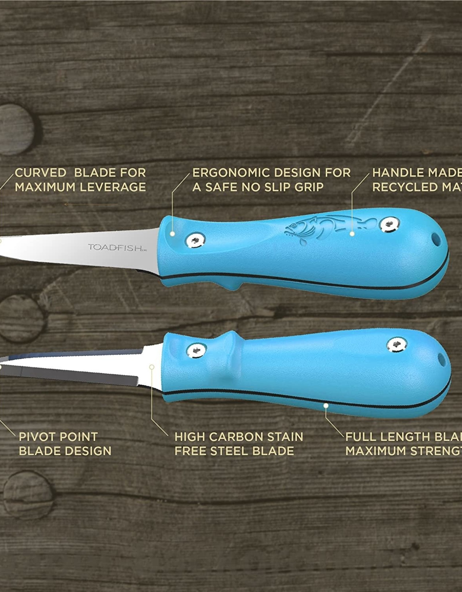 Toadfish Toadfish Outfitters Put 'Em Back Oyster Knife - Teal