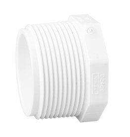 "NDS Drainage PVC 4"" Plug MPT Thread"