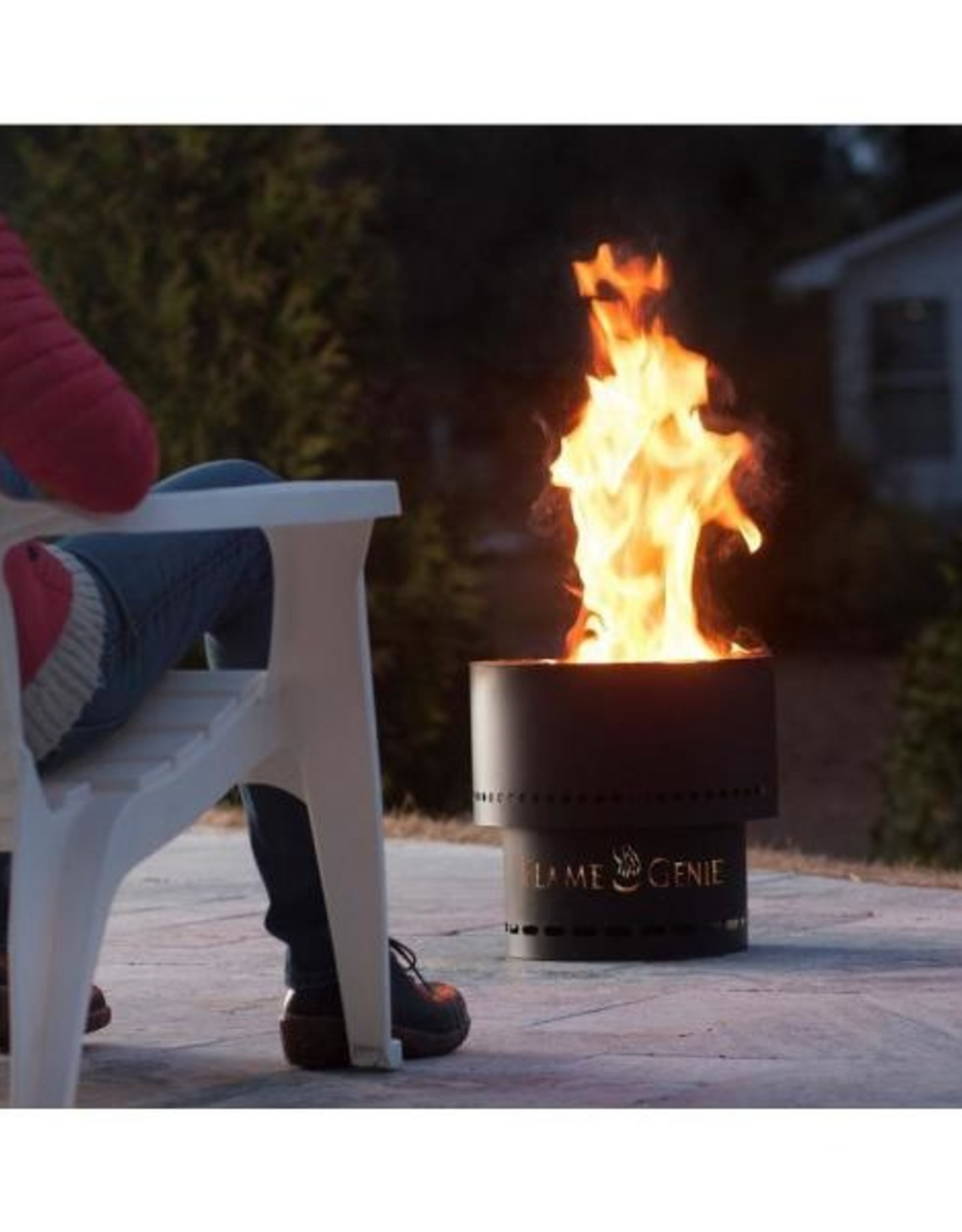 "Flame Genie Flame Genie Inferno 16"" Wood Pellet Fire Pit Black FG-16"
