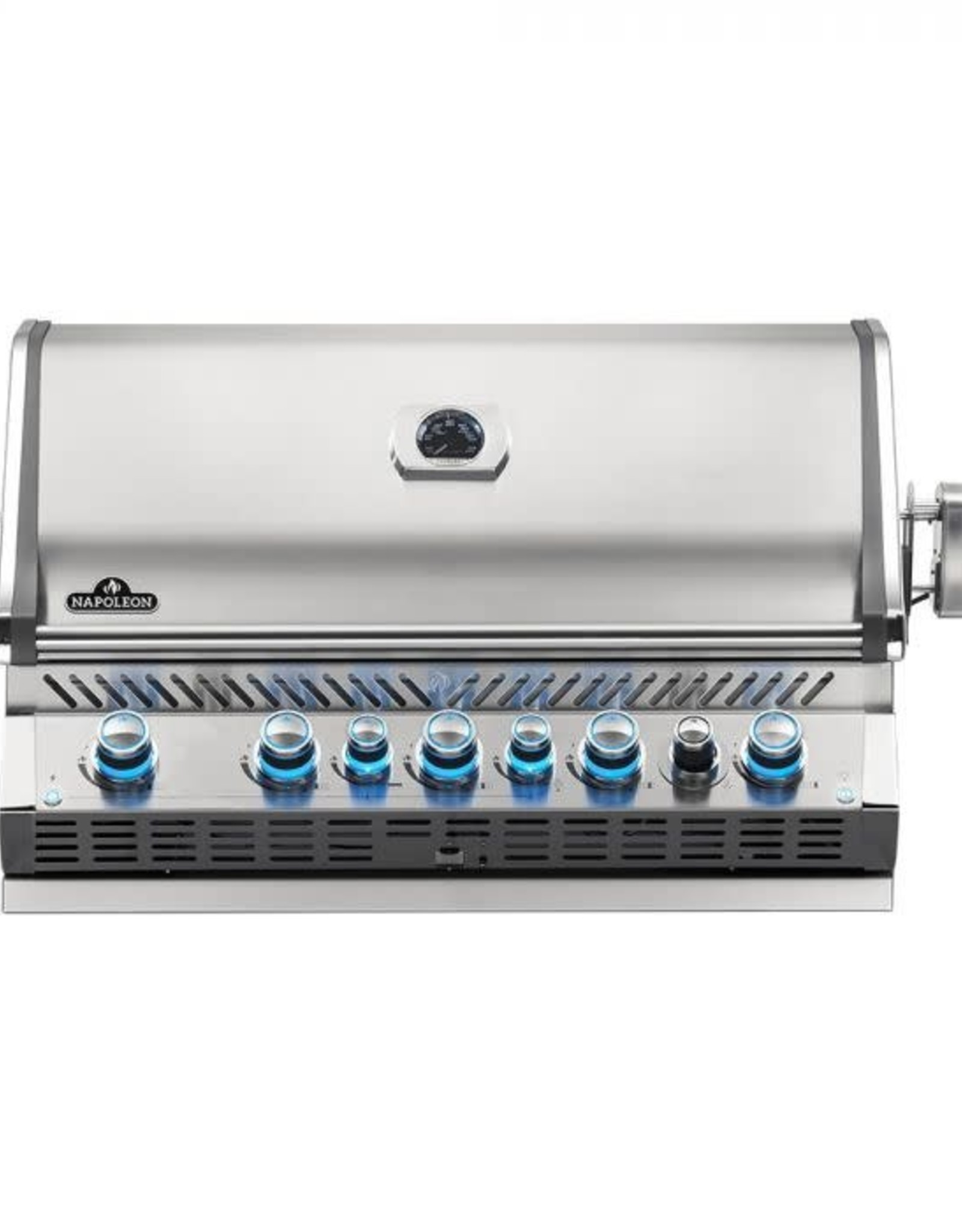 Napoleon Napoleon Prestige PRO 665 Built-in Natural Gas Grill with Infrared Rear Burner and Rotisserie Kit - BIPRO665RBNSS-3