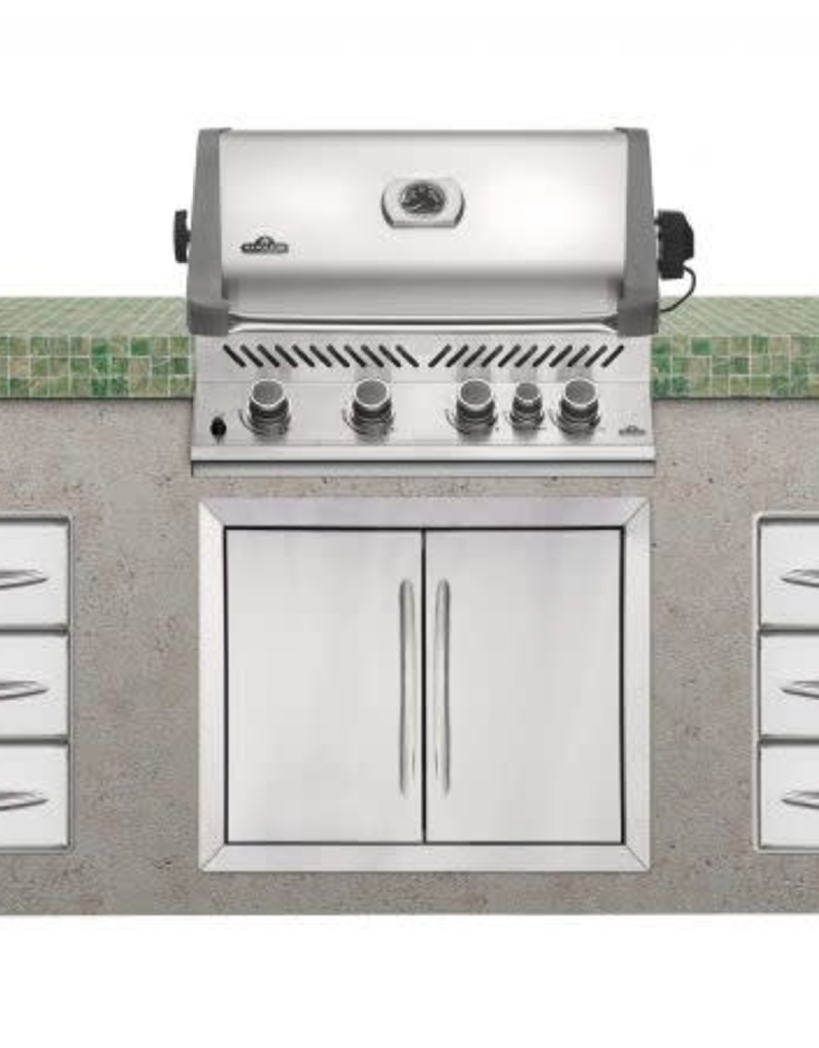 Napoleon Napoleon Prestige 500 Built-in Natural Gas Grill with Infrared Rear Burner and Rotisserie Kit - BIP500RBNSS-3