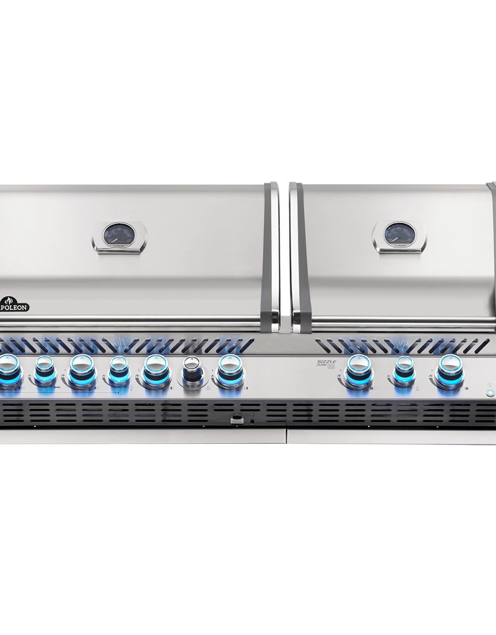 Napoleon Napoleon Prestige PRO 825 Built-in Propane Gas Grill with Infrared Rear Burner and Infrared Sear Burners and Rotisserie Kit - BIPRO825RBIPSS-3