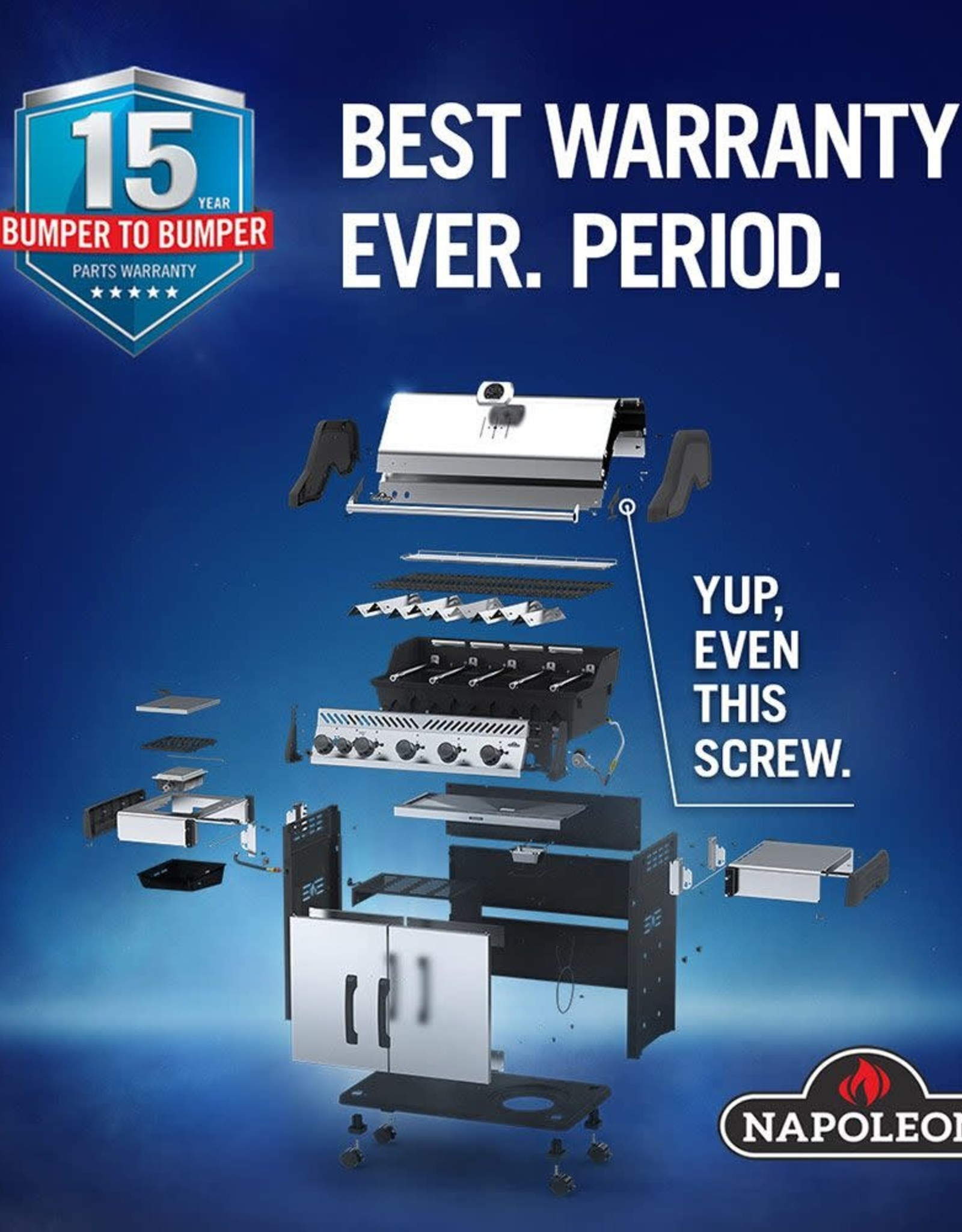 Napoleon Napoleon Prestige PRO 500 Built-in Propane Gas Grill with Infrared Rear Burner and Rotisserie Kit - BIPRO500RBPSS-3