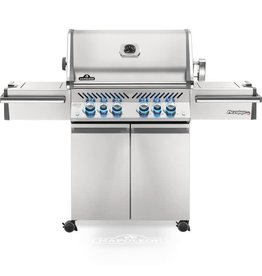 Napoleon Napoleon Prestige PRO 500 Natural Gas Grill with Infrared Rear Burner and Infrared Side Burners and Rotisserie Kit - PRO500RSIBNSS-3