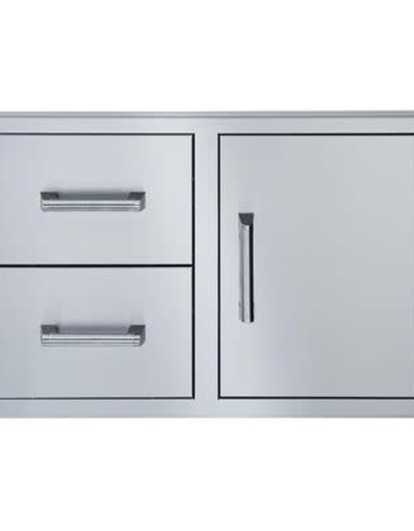Broilmaster Broilmaster 34-Inch Single Door with Double Drawer for BSG343N Gas Grill - BSAW3422SD