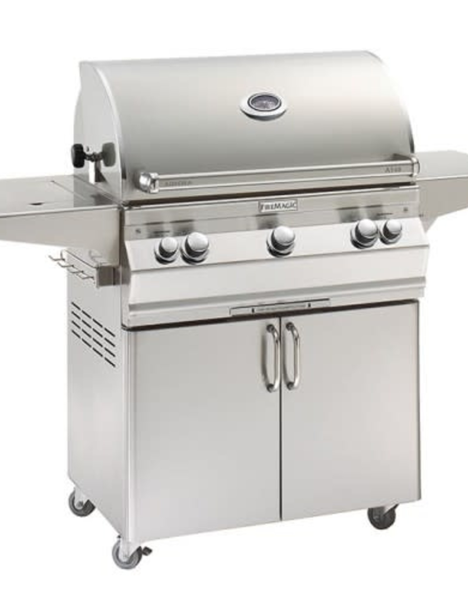 Fire Magic Fire Magic - Aurora A540s 30-inch Portable Grill With Side Burner and Rotisserie