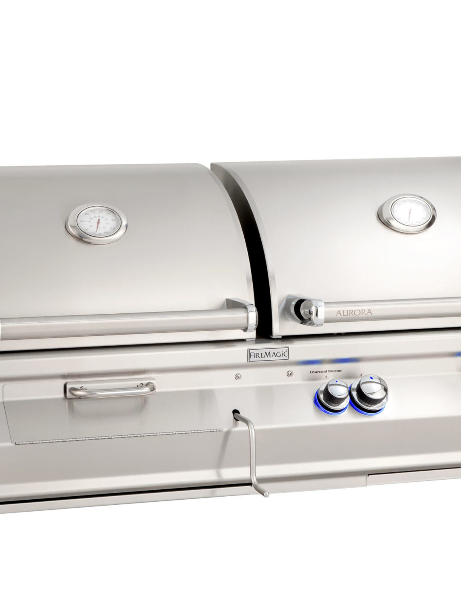 Fire Magic Fire Magic - Aurora A830i 46-inch Built-in Gas and Charcoal Combo Grill With Rotisserie