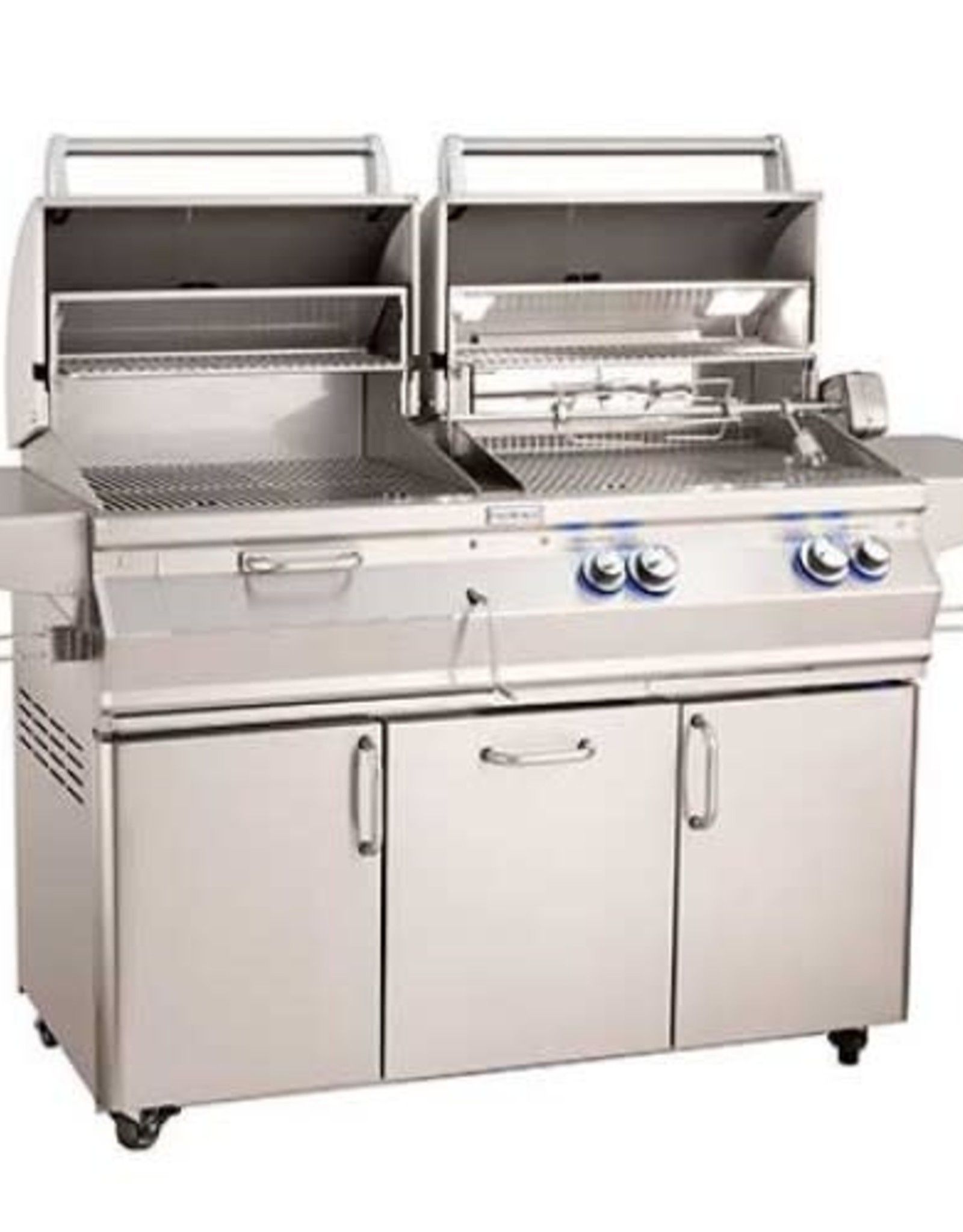 Fire Magic Fire Magic - Aurora A830s 46-inch Portable Gas and Charcoal Combo Grill With Rotisserie