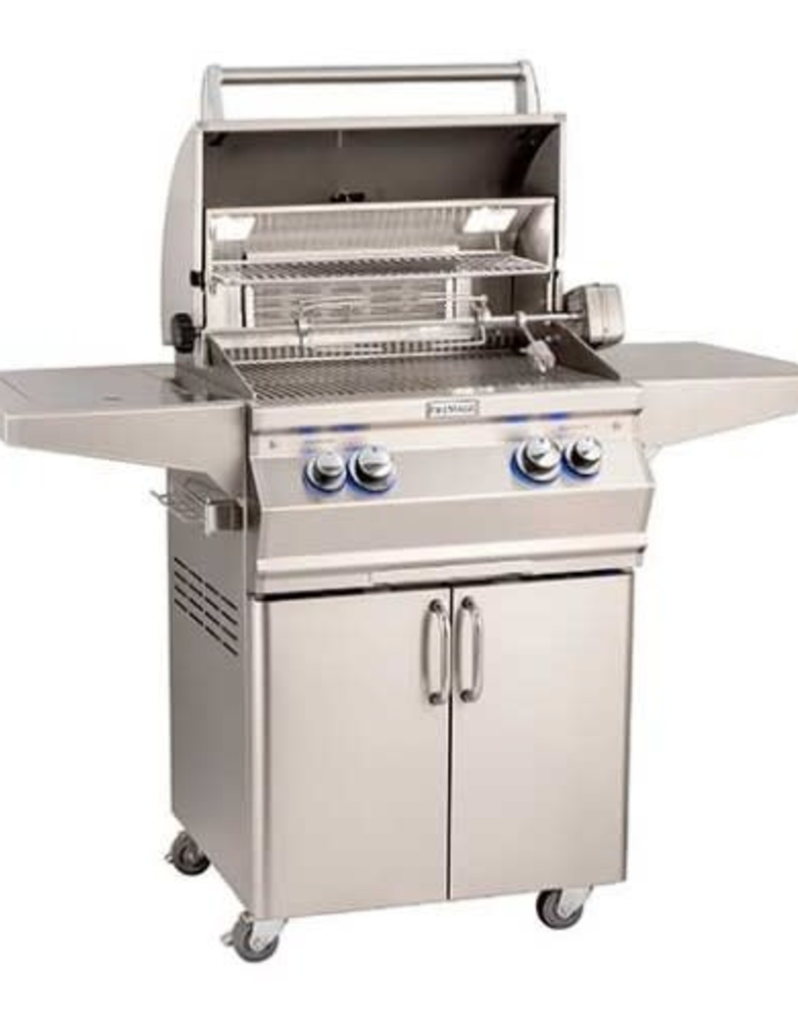 Fire Magic Fire Magic - Aurora A430s 24-inch Portable Grill With Side Burner and Rotisserie