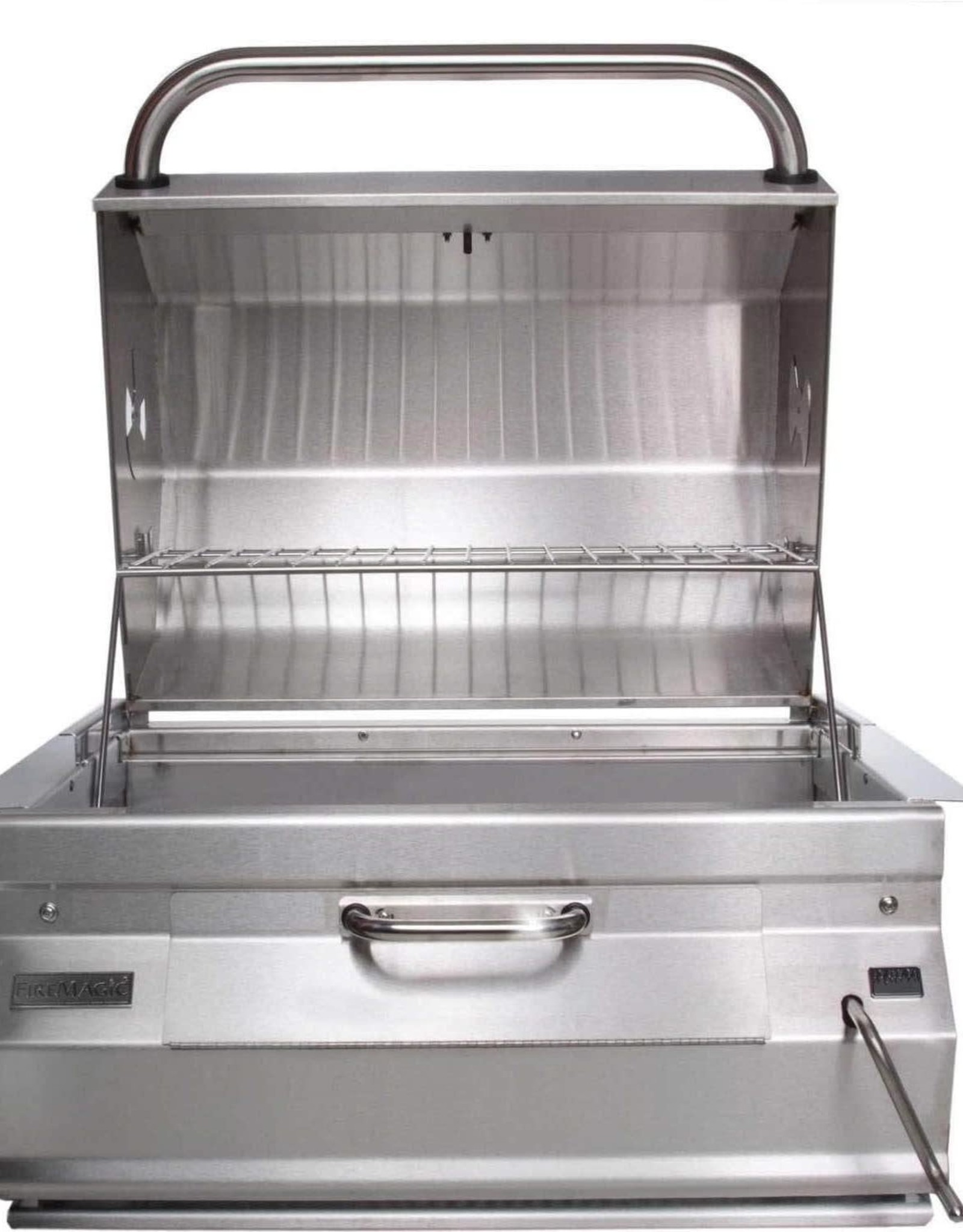 Fire Magic Fire Magic - Legacy Charcoal Slide In Barbecue Grill with Smoker Hood (30 x 18)