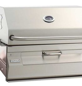 Fire Magic Fire Magic - Legacy Charcoal Slide In Barbecue Grill with Smoker Hood (24 x 18)