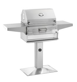 Fire Magic Fire Magic - Legacy Charcoal Patio Post Mount Grill with Smoker Hood (24 x 18)