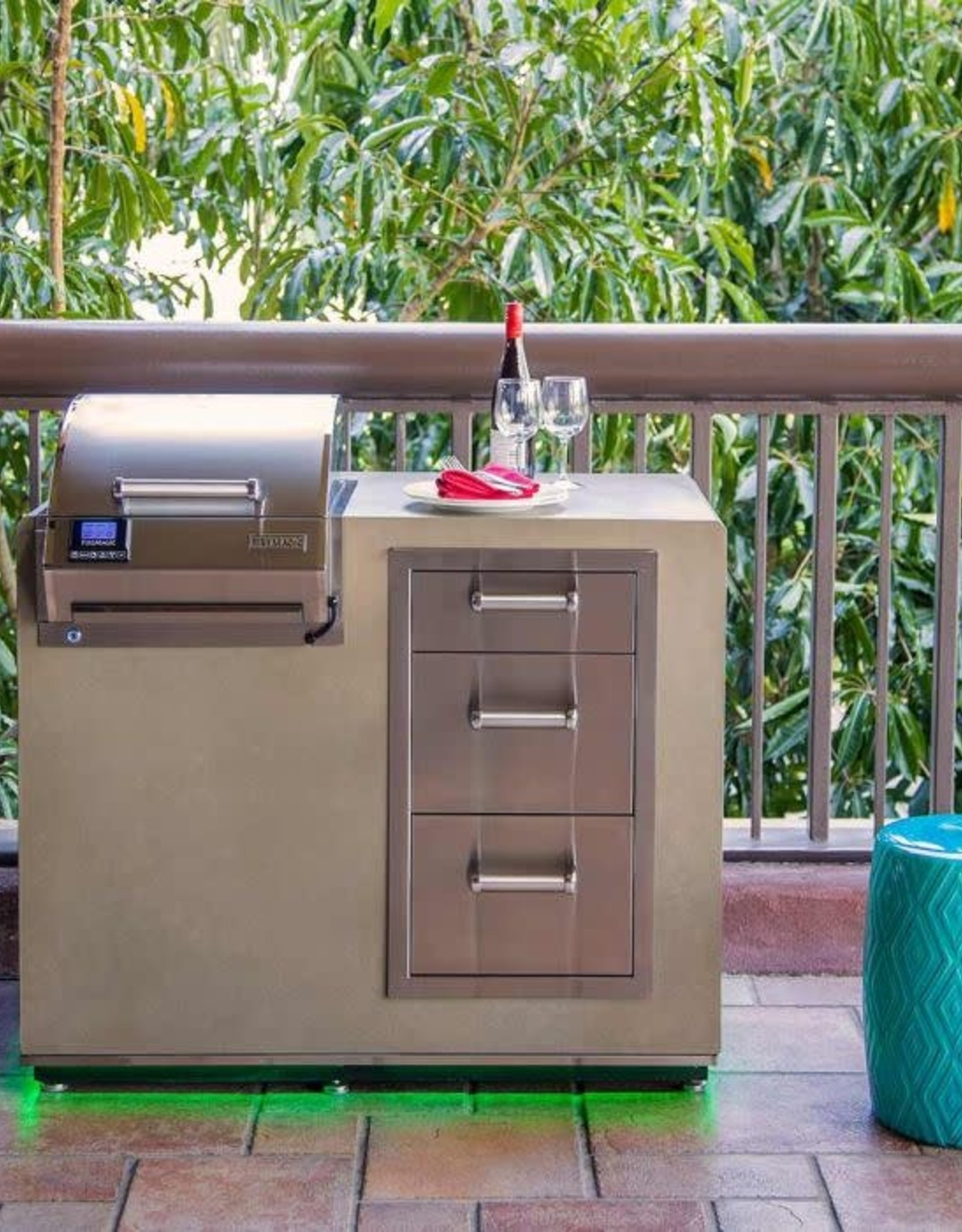 """Fire Magic Fire Magic - Electric Grill Island Bundle with Triple Drawers (36"""" x 44"""") - ID251-D-44SM"""