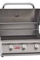 "Bull Bull 24"" Steer Premium 3-Burner Built-In Grill - 69008/69009"