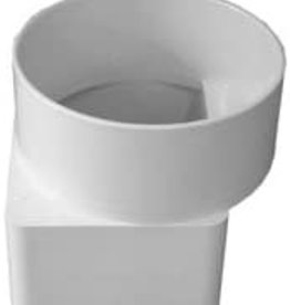 """Nds PVC 3x4x4"""" Offset Flush-Fit Downspout Adapter 9P13"""