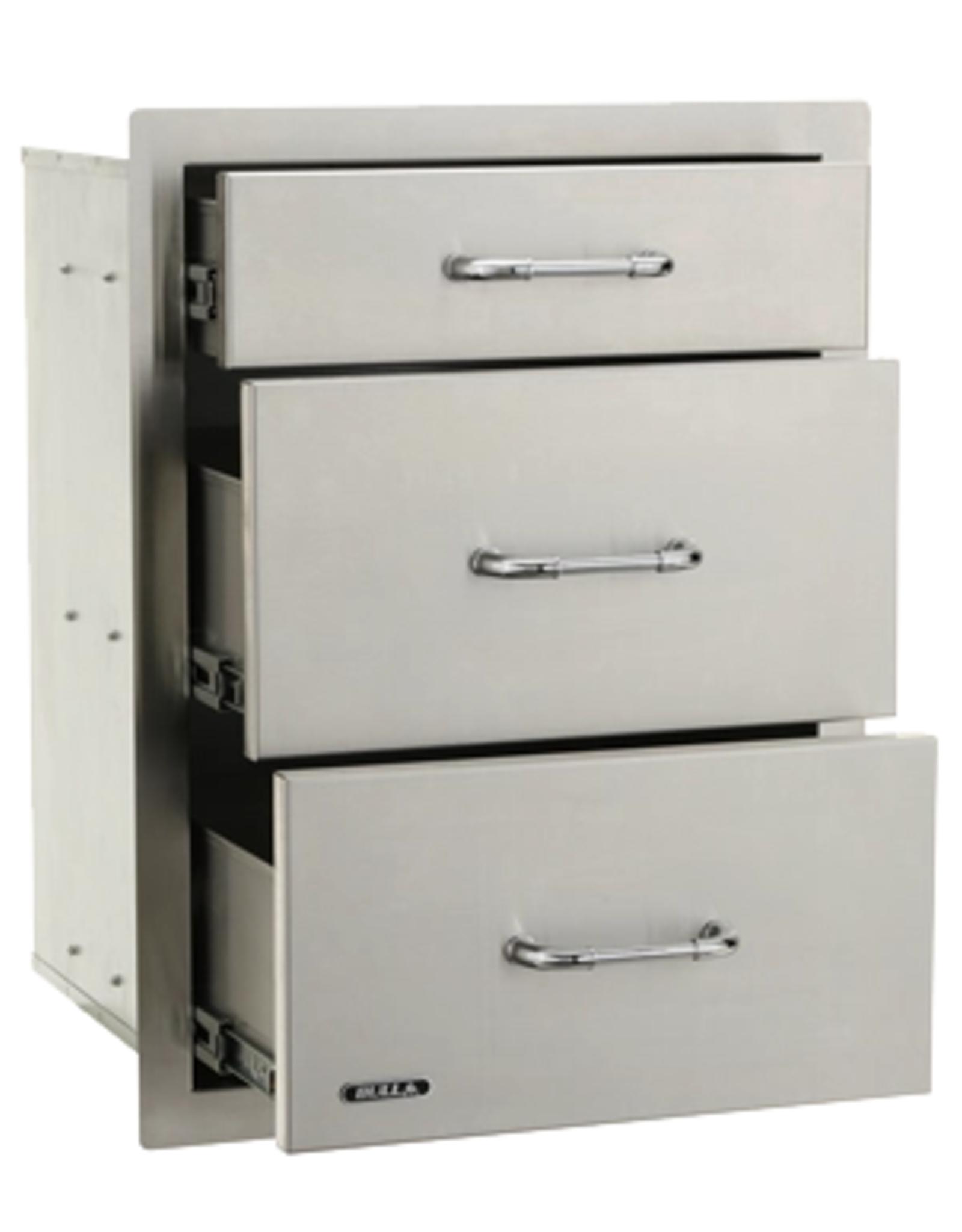 Bull Bull Stainless Steel Triple Drawer System