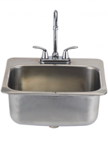 Bull Bull Large Stainless Steel Sink with Faucet - 12391
