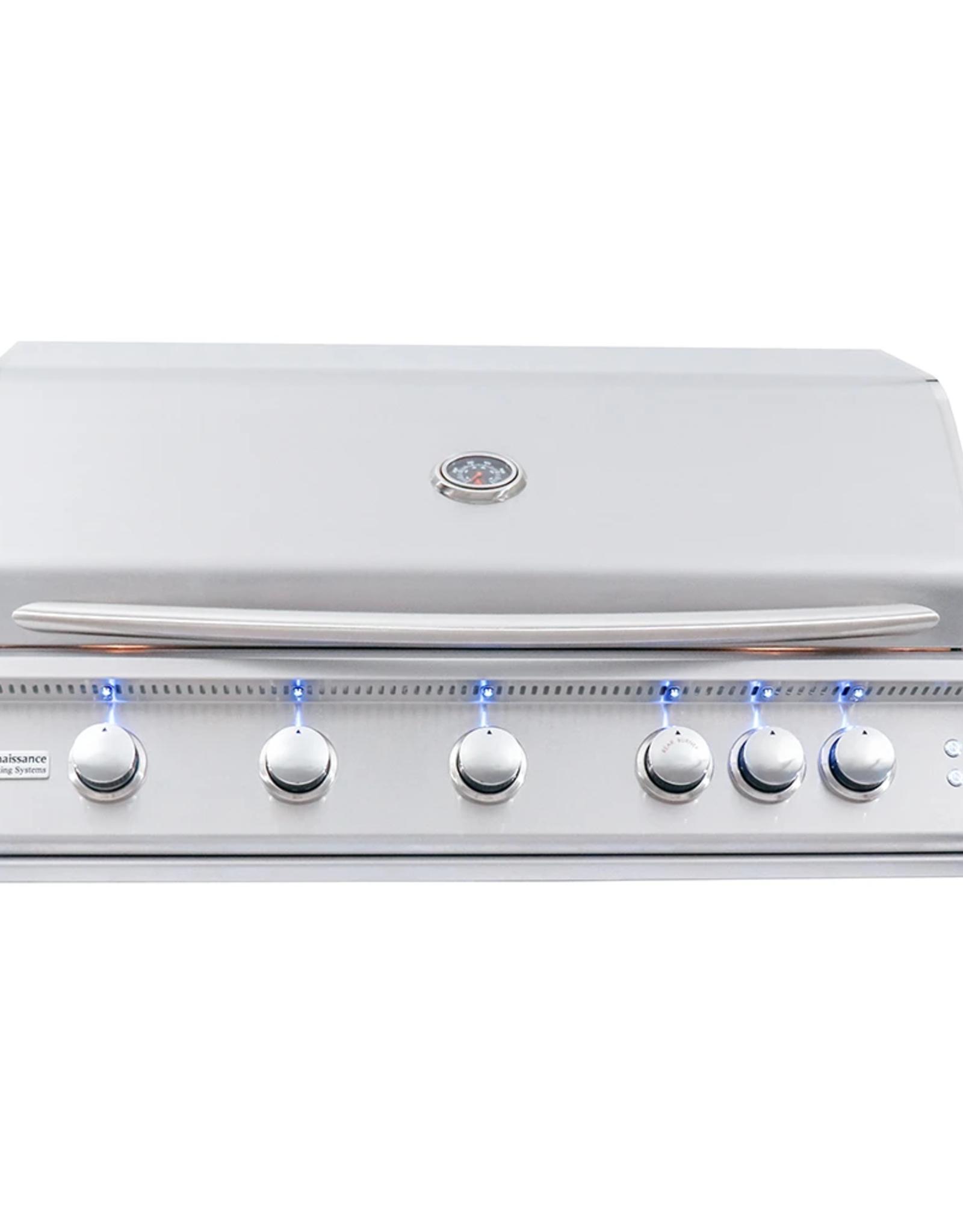 "Renaissance Cooking Systems Renaissance Cooking Systems 40"" Premier Drop-In Grill w/ LED Lights Propane  - RJC40AL"