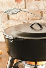 Lodge Lodge 9 Quart Cast Iron Dutch Oven. Pre Seasoned Cast Iron Pot and Lid with Wire Bail for Camp Cookin - L12D03