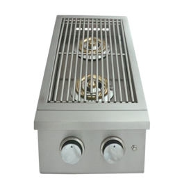 Renaissance Cooking Systems Renaissance Cooking Systems The Premier Series Double Side Burner with LED Lights - RJCSSBL