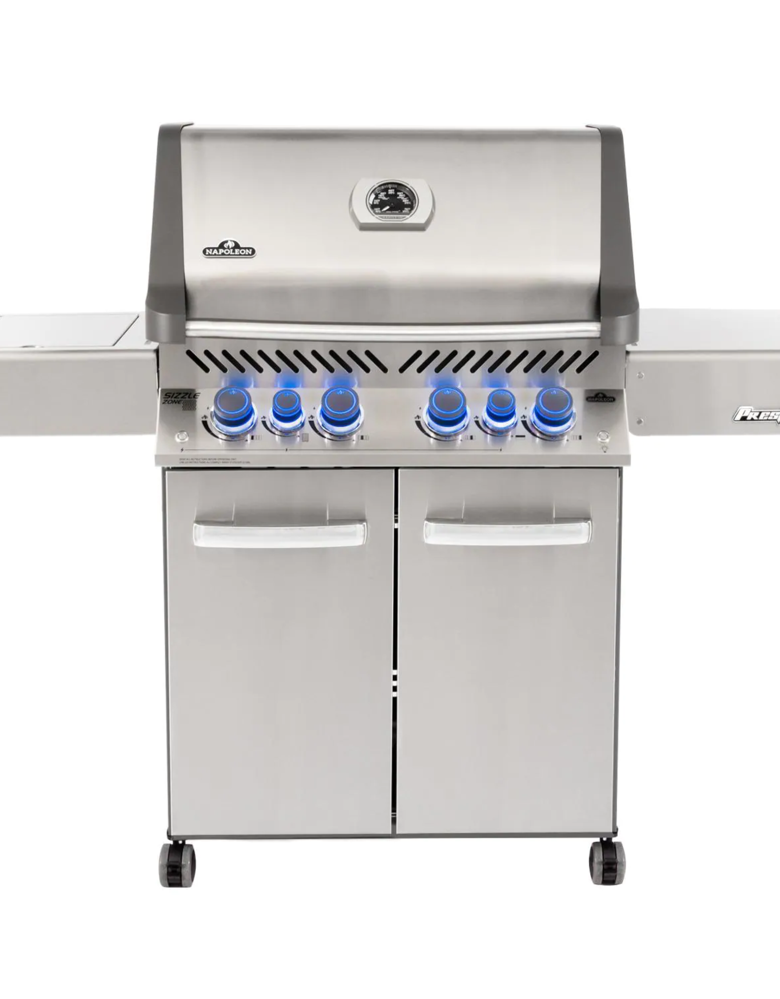 Napoleon Napoleon Prestige 500 Propane Gas Grill with Infrared Rear Burner and Infrared Side Burner and Rotisserie Kit - P500RSIBPSS-3