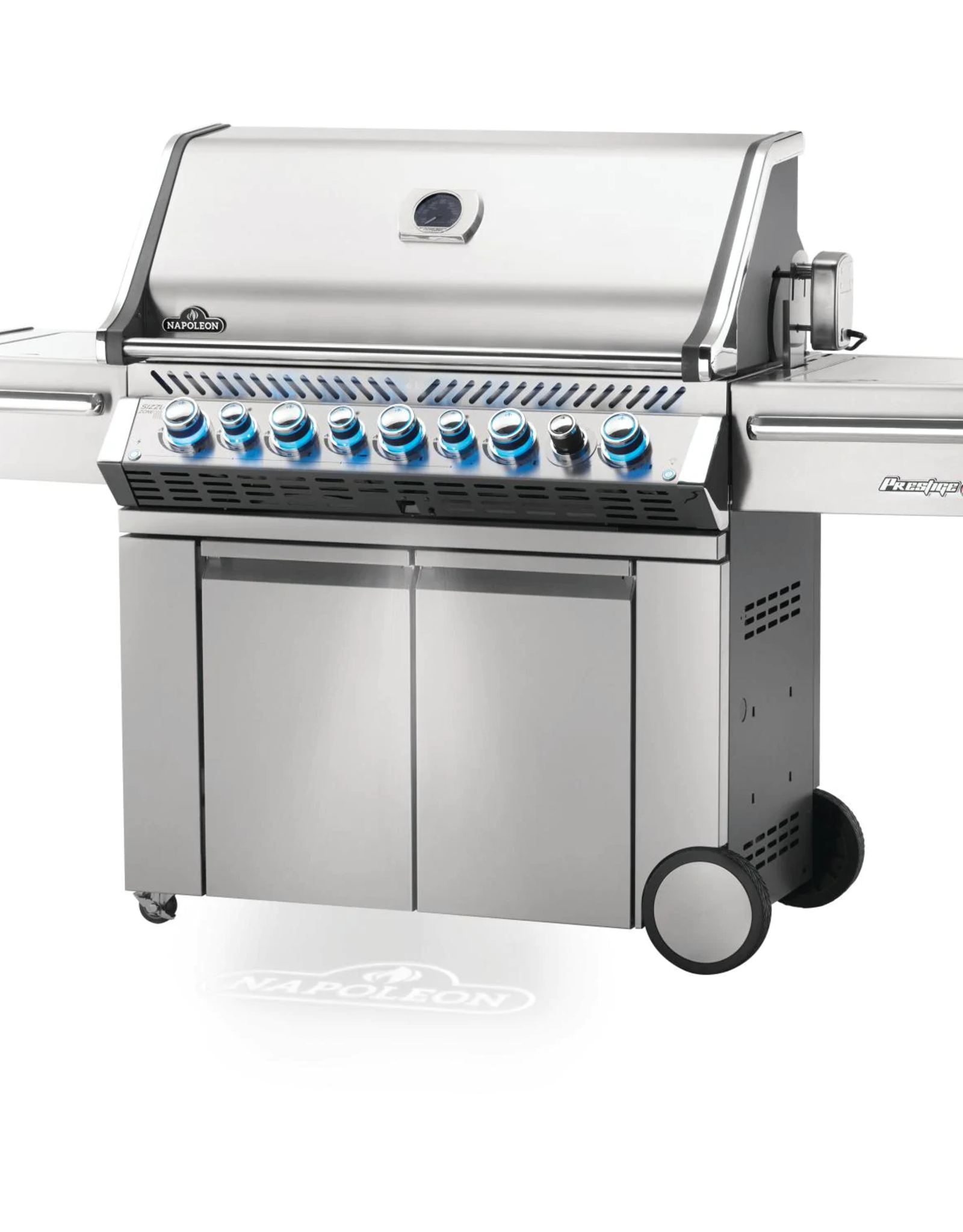 Napoleon Napoleon Prestige PRO 665 Natural Gas Grill with Infrared Rear Burner and Infrared Side Burner and Rotisserie Kit - PRO665RSIBNSS-3