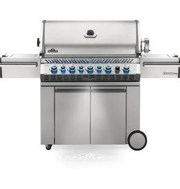 Napoleon Napoleon Prestige PRO 665 Propane Gas Grill with Infrared Rear Burner and Infrared Side Burner and Rotisserie Kit - PRO665RSIBPSS-3