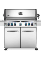 Napoleon Napoleon Prestige 665 Natural Gas Grill with Infrared Rear Burner and Infrared Side Burner and Rotisserie Kit - P665RSIBNSS