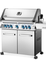 Napoleon Napoleon Prestige 665 Propane Gas Grill with Infrared Rear Burner and Infrared Side Burner and Rotisserie Kit - P665RSIBPSS