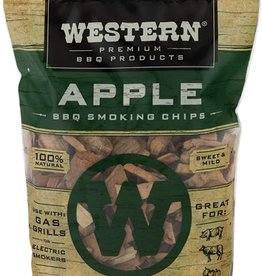 Western Premium BBQ Products Western Premium BBQ Products Apple BBQ Smoking Chips, 180 Cu in