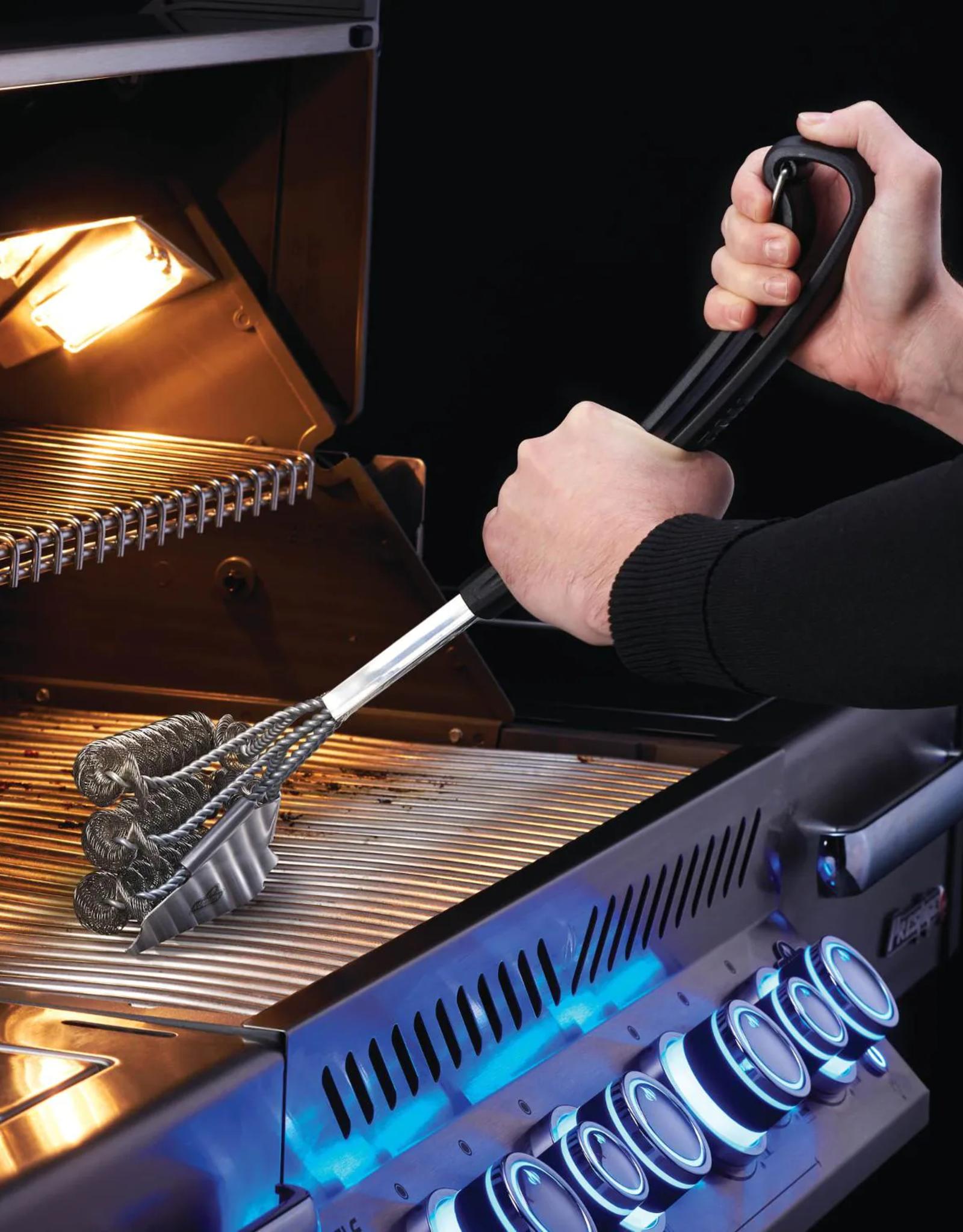 Napoleon Napoleon Bristle-Free Triple-Row Grill Brush W/ Rolled Stainless Steel - 62059