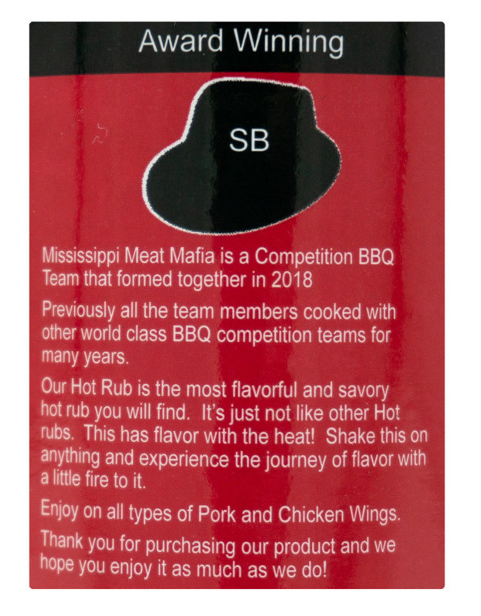 Mississippi Meat Mafia Mississippi Meat Mafia - The Heavy Hitter HOT Rub (14.9 oz.)