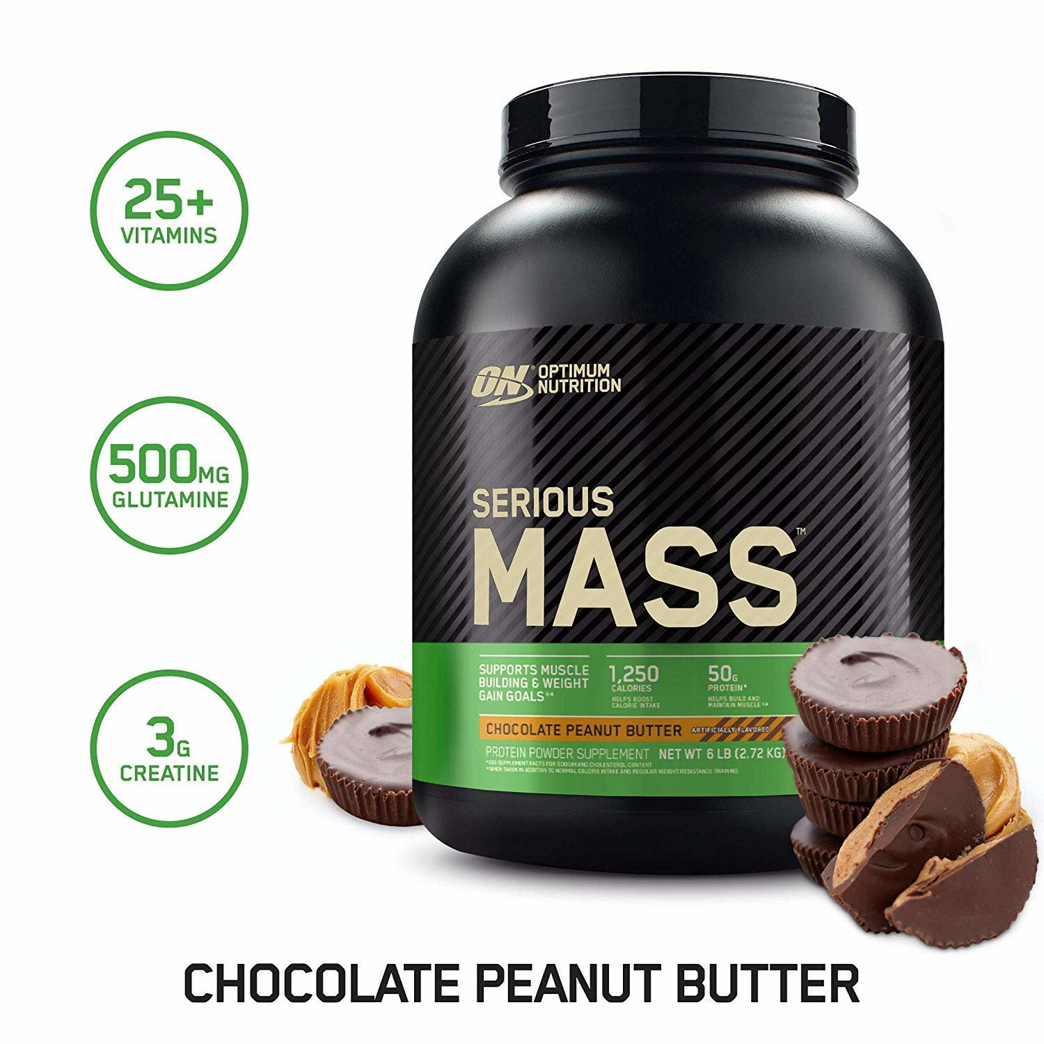 ON - Serious Mass - Chocolate Peanut Butter - 6 lbs