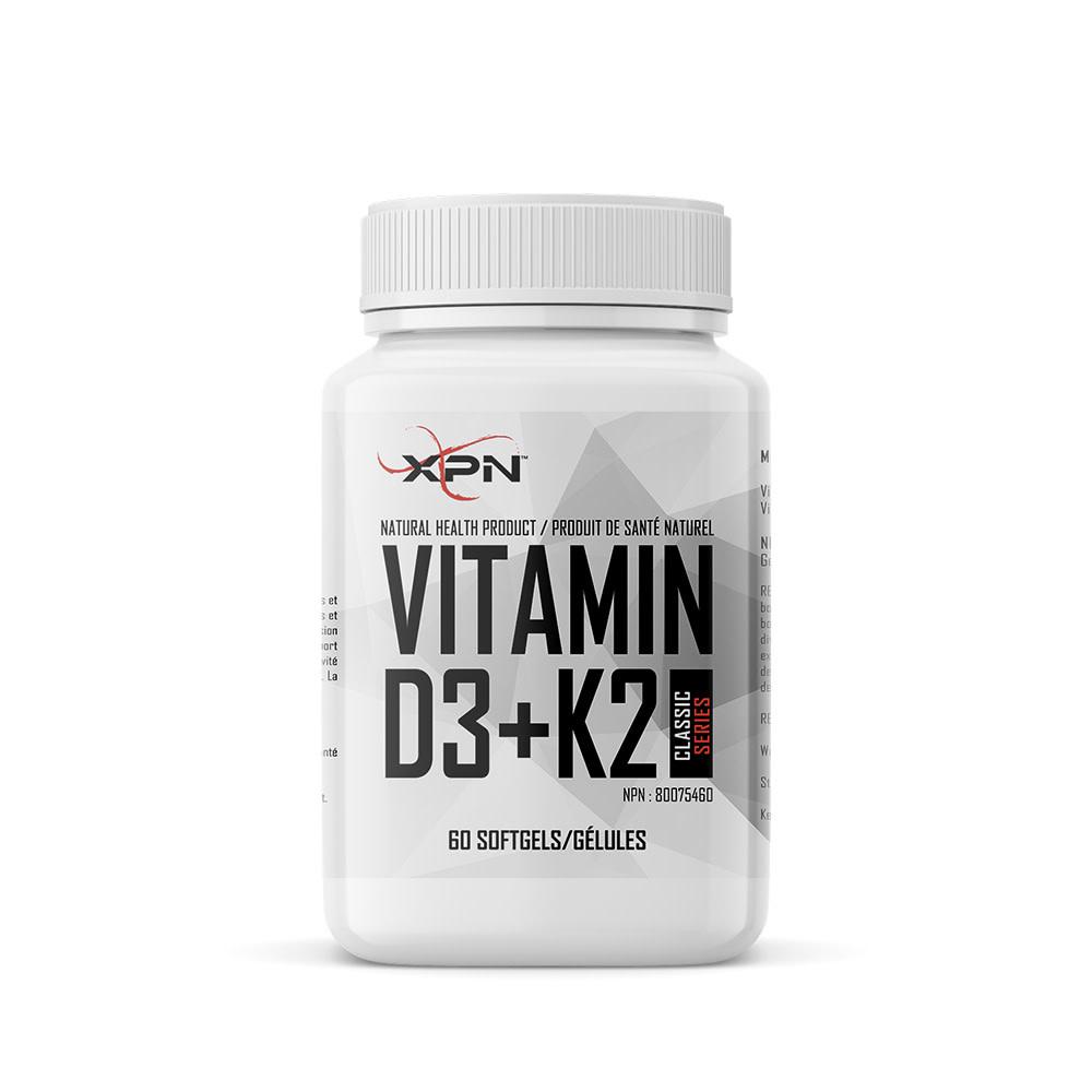 XPN XPN - Vitamin D3+K2 - 60 Caps