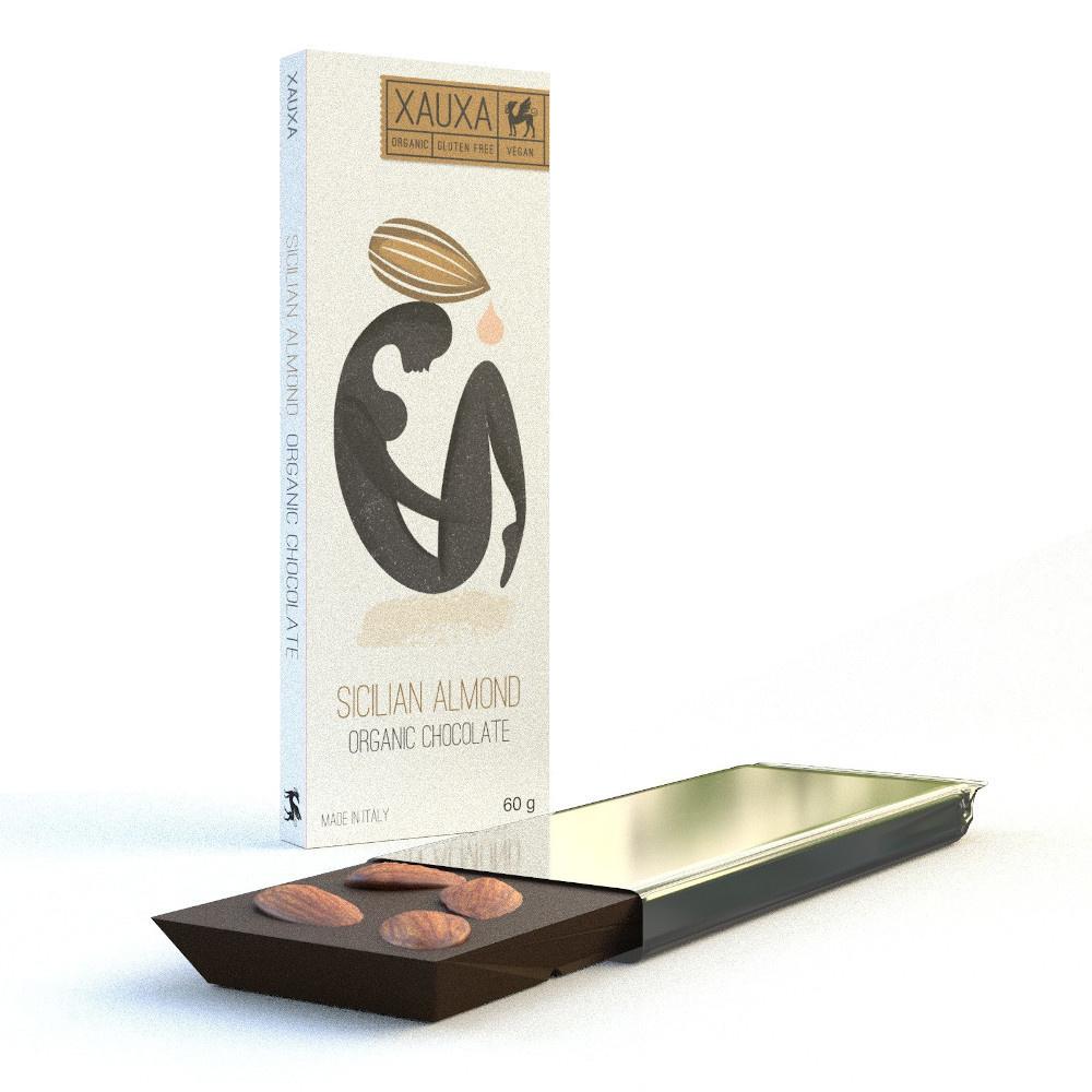 Fit-Fit Nature Nutrition Xauxa - Sicilian Almond & Dark Chocolat (Organic & Vegan) 60G