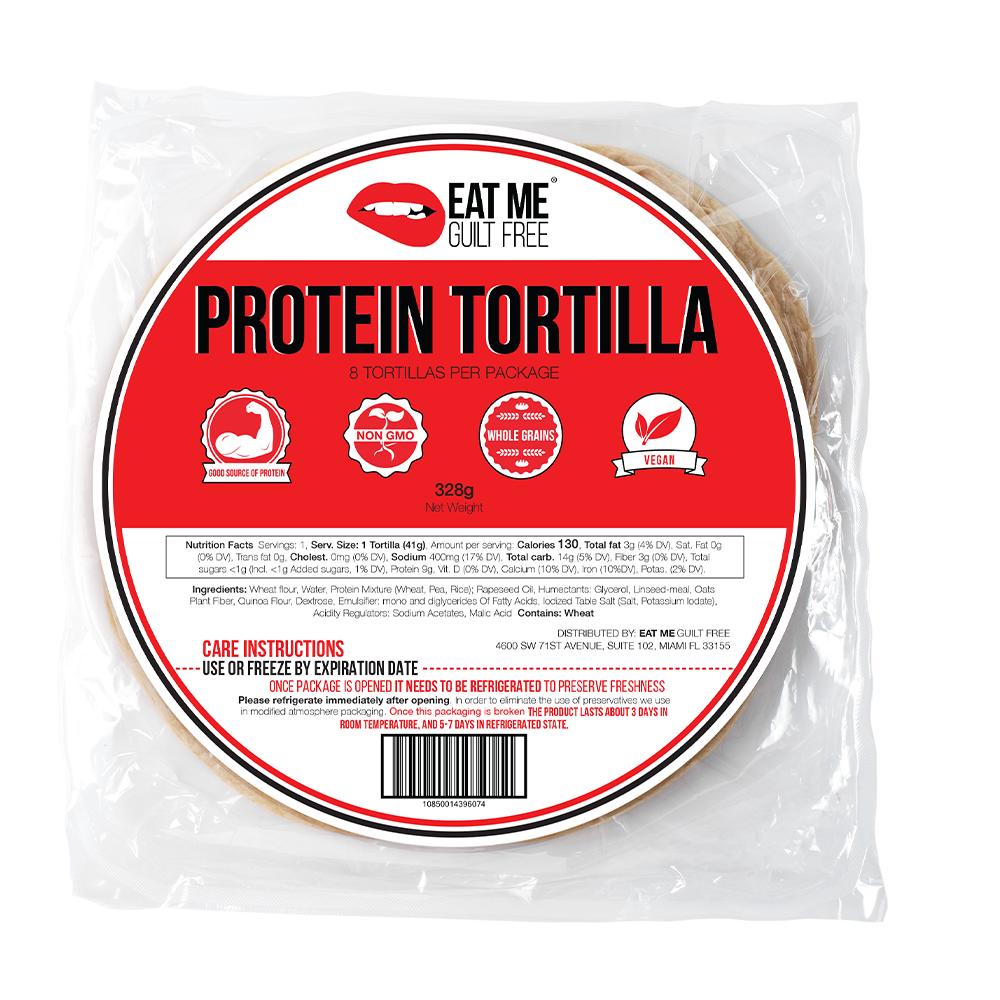 Eat Me Guilt Free Wrap Proteiné 8 Tortillas - 328g