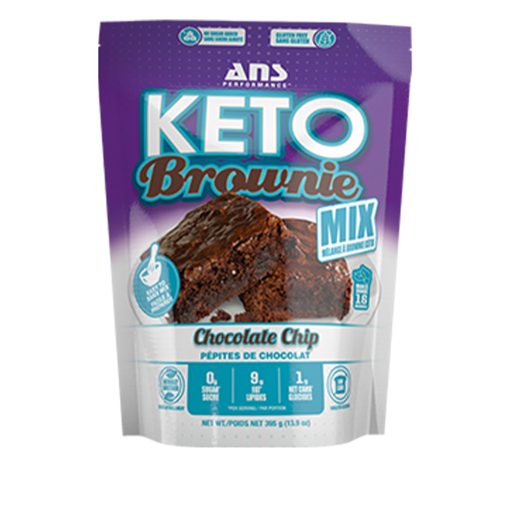 ANS Performance ANS - Keto Brownie Mix 395G - Chocolate Chip