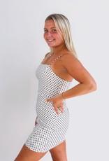 She + Sky Spotted in Grand Central Polka Dot Dress