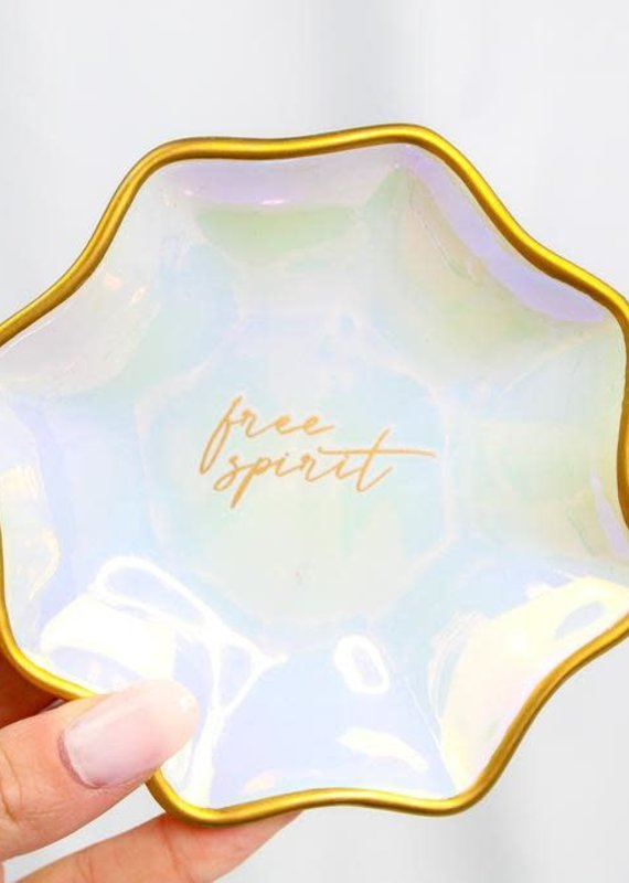 Karma Large Fluted Trinket Tray Iridescent