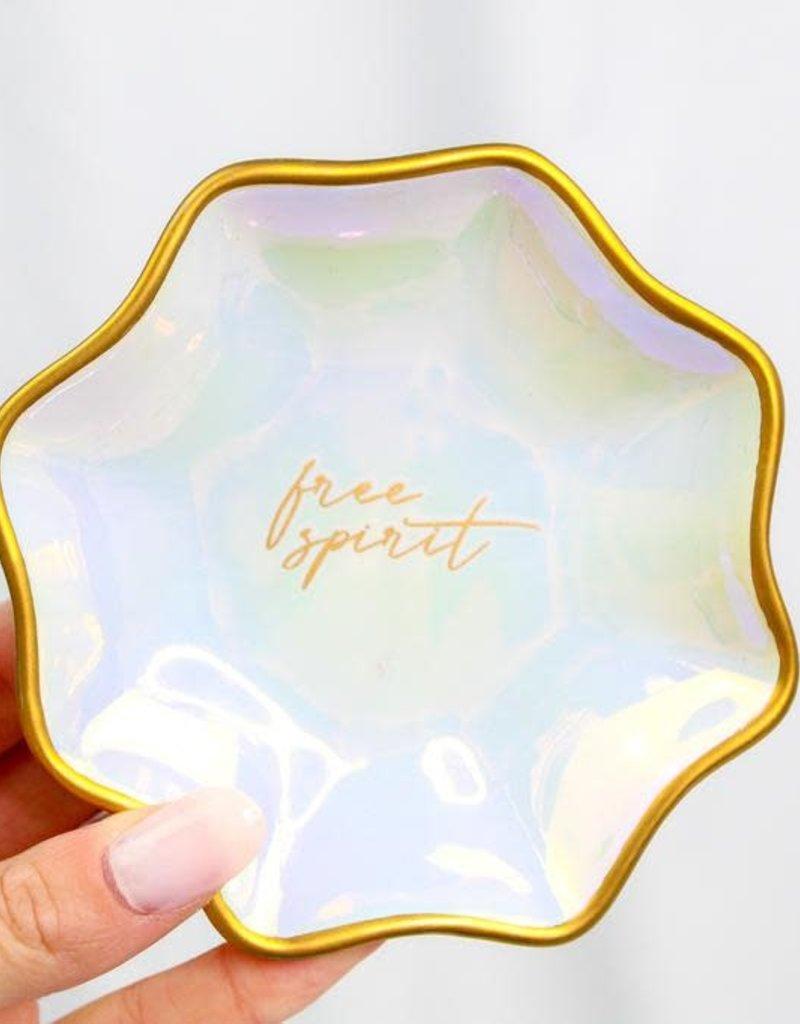 Karma Large Fluted Trinket Tray Iridescent