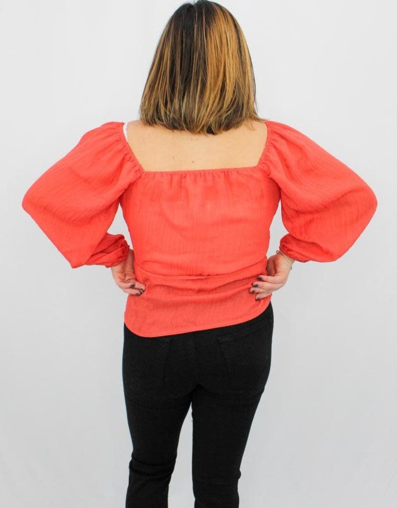 Mink Pink Paradise Dreams Wrap Top